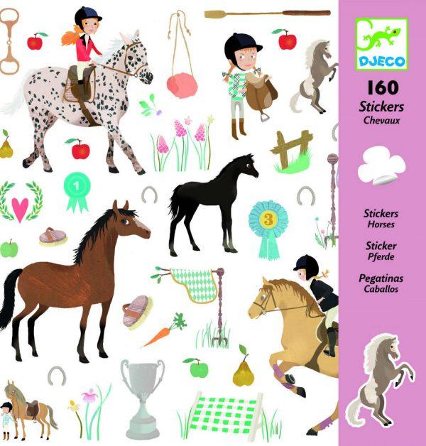 160 stickers autocollants chevaux