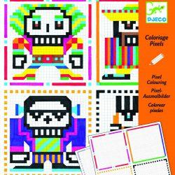 20 coloriages pixels Skull Boys