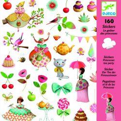 160 stickers autocollants le goûter des princesses