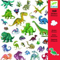 160 stickers autocollants dinosaures