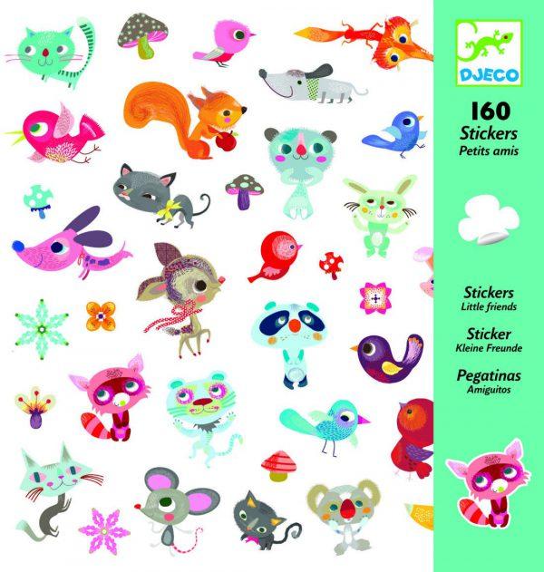 160 stickers autocollants petits animaux